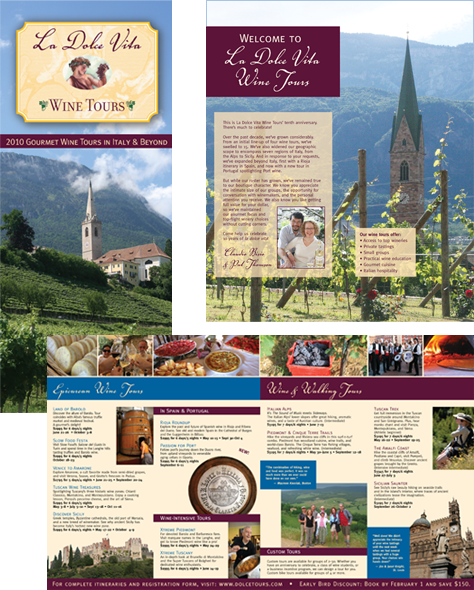 La Dolce Vita Wine Tours brochure