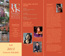 Brooklyn Chamber Music Society Fall 2013 Brochure